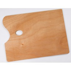 wood rectangle palette